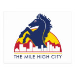 Mile High City Blue Horse Post Cards