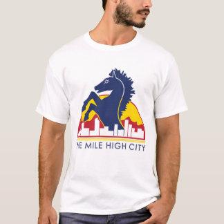 Mile High City Blue Horse T-Shirt