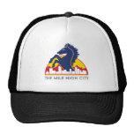 Mile High City Blue Horse Trucker Hats