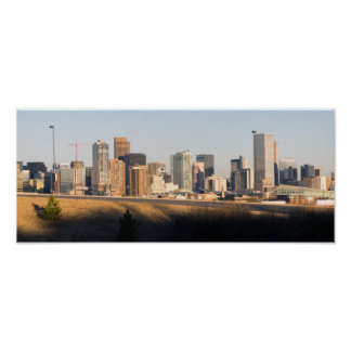 Mile High City Denver Colorado Downtown Skyline Poster