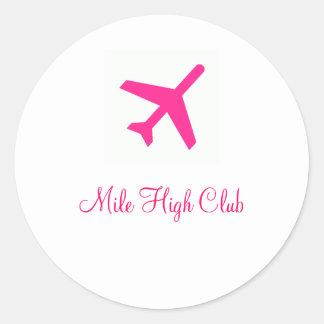 Mile High Club - Customized Classic Round Sticker