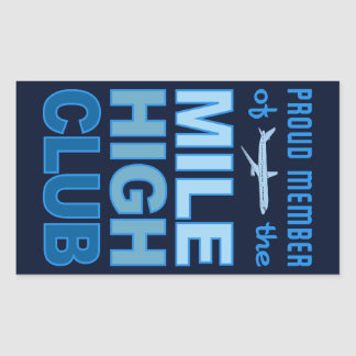 Mile High Club stickers