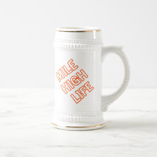 Mile High Life Beer Stein
