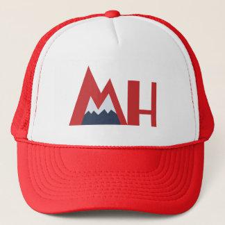 Mile High Logo Trucker Hat, Red Trucker Hat
