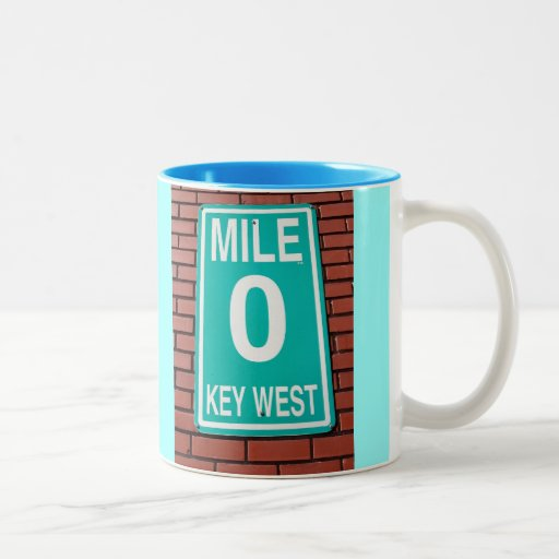 Mile Marker 0 Sign Coffee Mugs