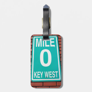 Mile Marker 0 Sign Tags For Luggage