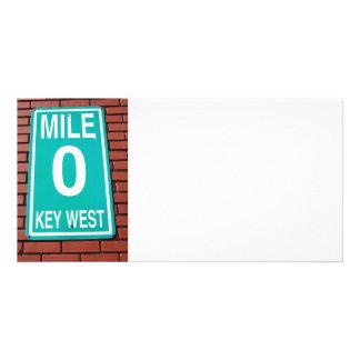 Mile Marker O sign key West. Card