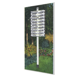 Mile Marker Sign Post Canvas Print