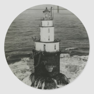 Mile Rocks Lighthouse Classic Round Sticker