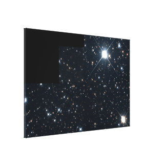 Mile-Wide Asteroid Streaks By Background of Stars Canvas Print