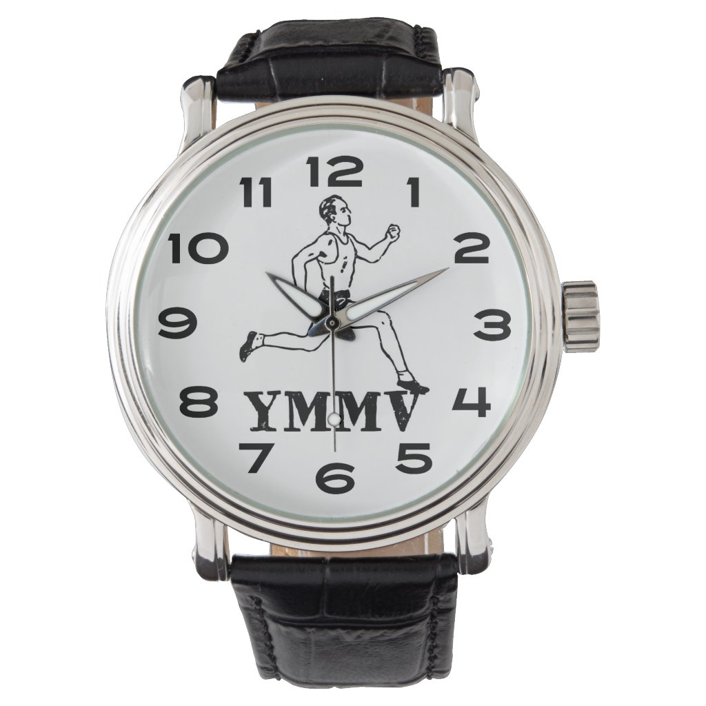 Mileage May Vary Runner Wrist Watch