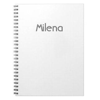 Milena White Notebook