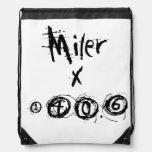 Miler x 140.6 - Funny Triathlete Drawstring Bags