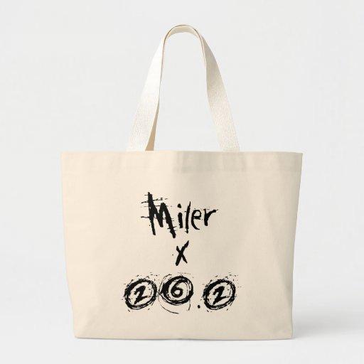 Miler x 26.2 - Funny Marathon Runner Canvas Bags