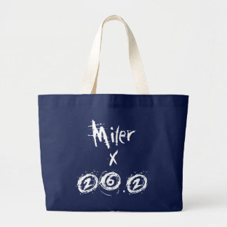 Miler x 26.2 - Funny Marathon Runner Large Tote Bag