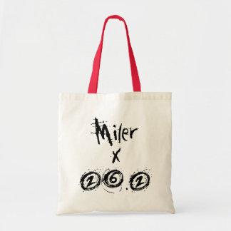 Miler x 26.2 - Funny Marathon Runner Tote Bag