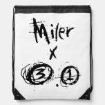 Miler x 3.1 - Funny 5k Runner Drawstring Bags