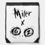 Miler x 6.2 - Funny 10k Runner Drawstring Backpacks