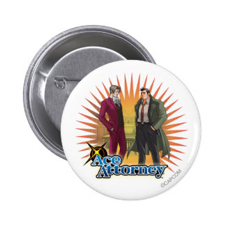 Miles and Gumshoe 2 Inch Round Button