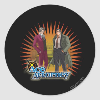 Miles and Gumshoe Classic Round Sticker