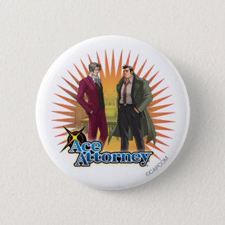 Miles and Gumshoe Pinback Button