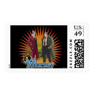 Miles and Gumshoe Postage Stamp