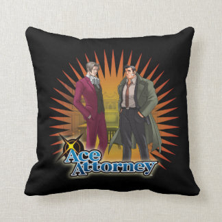 Miles and Gumshoe Throw Pillow