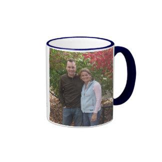 Miles apart...but close at heart. ringer coffee mug