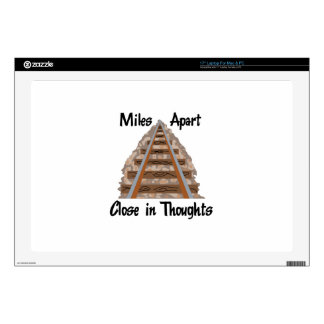 Miles Apart Decal For Laptop