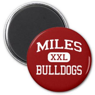 Miles - Bulldogs - Miles High School - Miles Texas 2 Inch Round Magnet