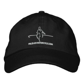 Miles By Motorcycle Cap Embroidered Hats