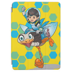 iPad Air Cover with Miles Callisto & Merc the Robo-Ostrich design