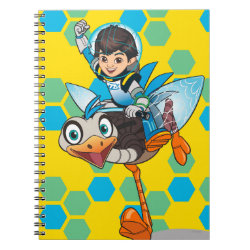 Photo Notebook (6.5' x 8.75', 80 Pages B&W) with Miles Callisto & Merc the Robo-Ostrich design