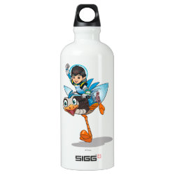 SIGG Traveller Water Bottle (0.6L) with Miles Callisto & Merc the Robo-Ostrich design