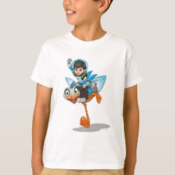 Kids' Hanes TAGLESS® T-Shirt with Miles Callisto & Merc the Robo-Ostrich design
