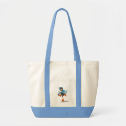 Impulse Tote Bag with Miles Callisto & Merc the Robo-Ostrich design