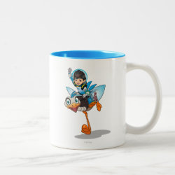 Two-Tone Mug with Miles Callisto & Merc the Robo-Ostrich design