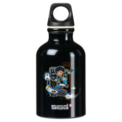 Miles Callisto On His Blastboard Graphic Aluminum Water Bottle