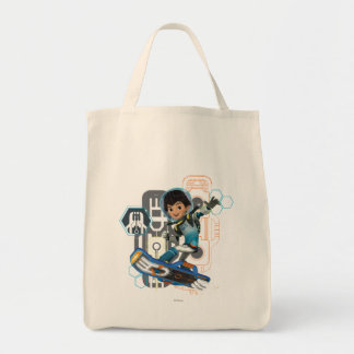 Miles Callisto On His Blastboard Graphic Grocery Tote Bag