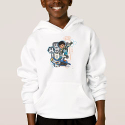 Miles Callisto On His Blastboard Graphic Hoodie