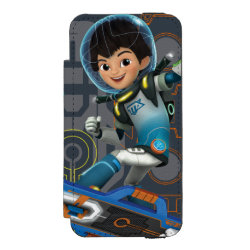 Miles Callisto On His Blastboard Graphic iPhone SE/5/5s Wallet Case