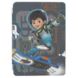 iPad Air Cover with Miles Callisto on his Blastboard design