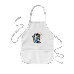Miles Callisto On His Blastboard Graphic Kids' Apron