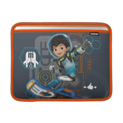Macbook Air Sleeve with Miles Callisto on his Blastboard design