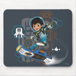 Mousepad with Miles Callisto on his Blastboard design