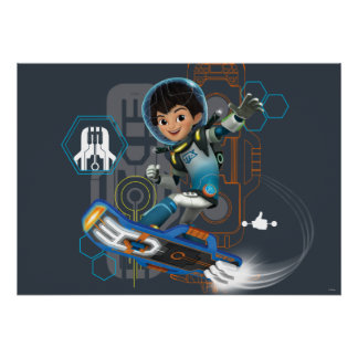 Miles Callisto On His Blastboard Graphic Poster