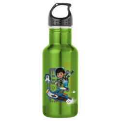 Water Bottle (24 oz) with Miles Callisto on his Blastboard design