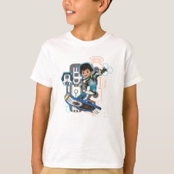 Kids' Hanes TAGLESS® T-Shirt with Miles Callisto on his Blastboard design