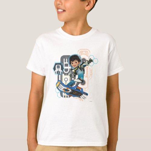 Miles Callisto On His Blastboard Graphic T_Shirt