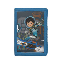 TriFold Nylon Wallet with Miles Callisto on his Blastboard design
